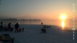Chiemsee-Sonnenuntergang-Winter