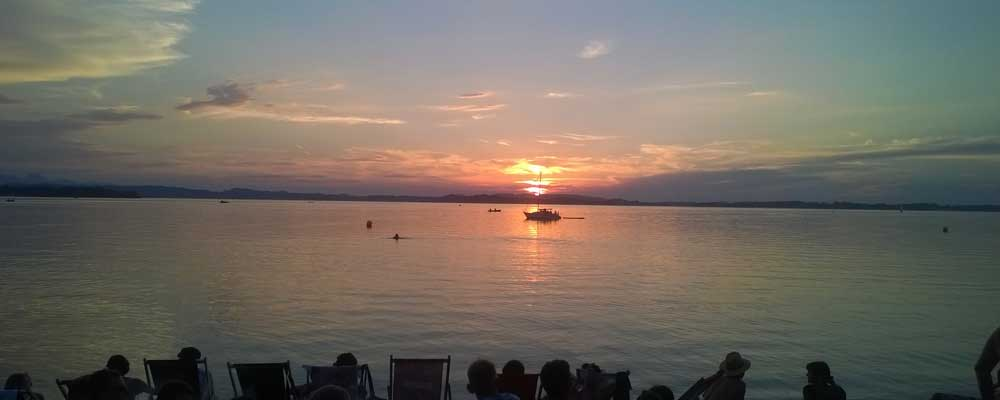 Chiemsee Strand Sonnenuntergang